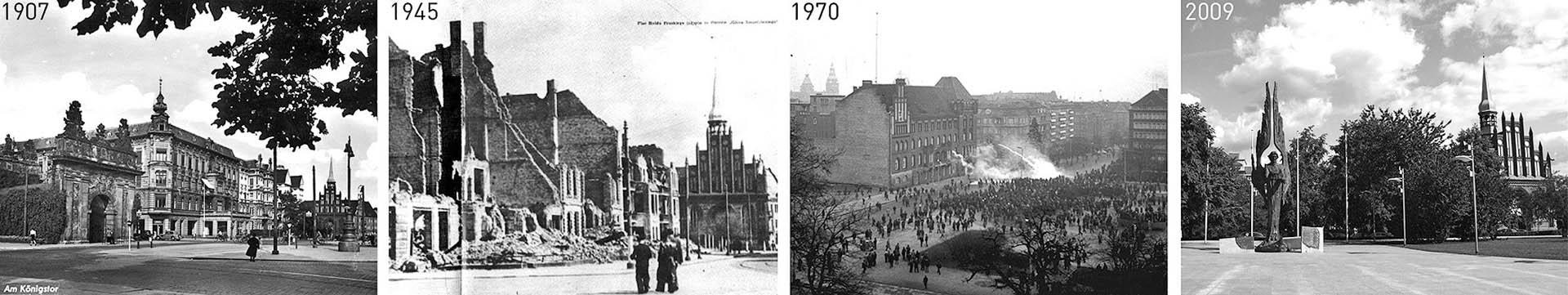 zdjęcia archiwalne placu Solidarności w Szczecinie